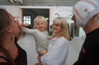 Hannah Wiker, Kim Ekberg och Inez Edström.